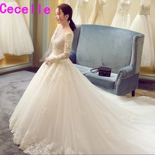 cecelle robe de A-line Wedding Dress With Full Sleeves
