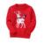 Crianças Meninos Meninas Natal Camisola do Pulôver de Malha Outono Inverno Bonito Elk 2016 Moda de Todos Os Jogo Assentamento Outwear Azul Vermelho Top