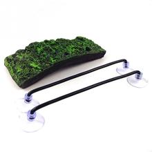 new 1pcs Aquarium Tank Floating Sucking Disc Turtle Dock Basking Terrace Island Platform Aquatic Pet Supplies 20cm*9cm*2cm #0918