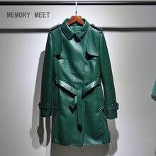 Высокая-конец пользовательские импортные овчина, кожаные женские пальто