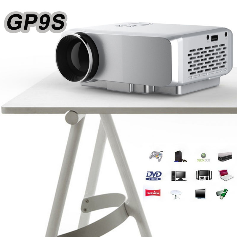 ФОТО Mini Portable Projector GP9S Home Theater LED TV Video Game Beamer 800 Lumen SD HDMI / VGA / AV / USB Port 1080P LCD Projectors