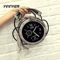 veevanv 2016 summer hot new clock bag lady shoulder bag Korean fashion hand fringed buns