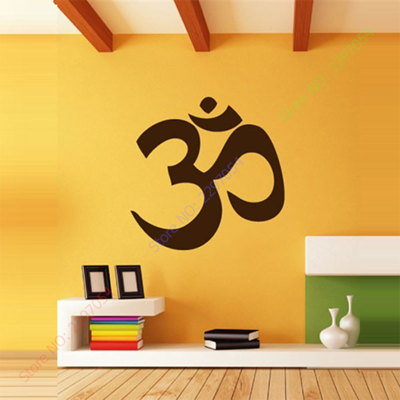 Us 6 31 21 Off Free Shipping Yoga Om Yoga Decoration Wall Stickers Wall Decal Quote Wall Lettering Art Words Large Size Selectable In Wall Stickers