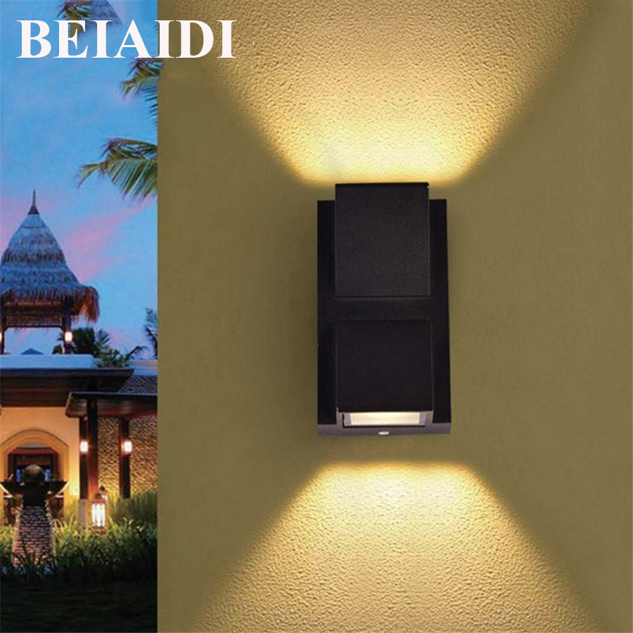 Led Lamps Led Outdoor Wall Lamps Objective Led Outdoor Wall Light Outside Lamp Black White Wall Sconce Lighting Up And Down Globe Modern Patio Garden House Round Lights