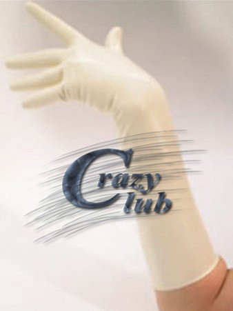 Crazy Club New Arrival White Latex Gloves Elbow Length