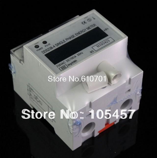 Single Phase LCD 20~100A 230VAC 60Hz DIN-rail Kilowatt Hour kwh Energy Meter digital lcd 230v 80a single phase din rail electricity kwh meter kilowatt bi103