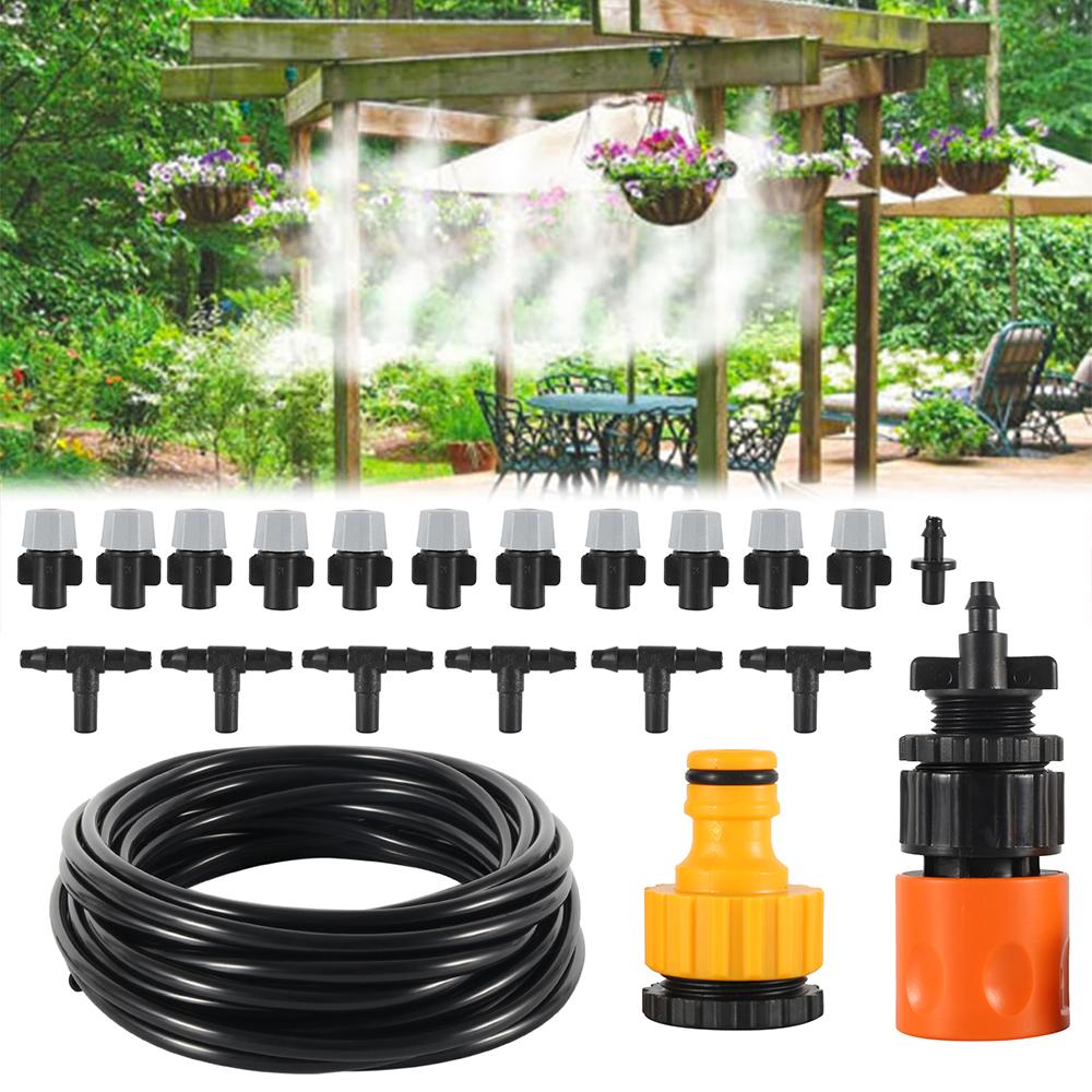 HTB1EAm8l Zmx1VjSZFGq6yx2XXaj - Water Misting Cooling System Kit summer Sprinkler brass Nozzle Outdoor Garden