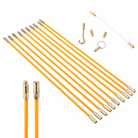 10pcs Cable Access Kit 580mm Length 4mm Diameter Installation Electricians Pull Rods Wire Fish Tape Cable