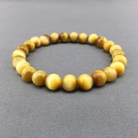 2017 New Arrival New Strand Bracelets Women Stone Stainless Steel Round Handmade 10mm Charming Of Tiger