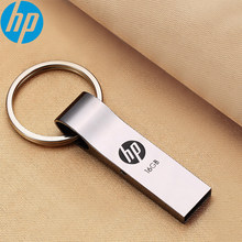 HP V285W Chave De Metal USB Flash Drive 8 GB/16 GB/32 GB/64 GB memoria usb pendrive memory stick USB para Laptop À Prova de Choque À Prova D' Água PC(China)