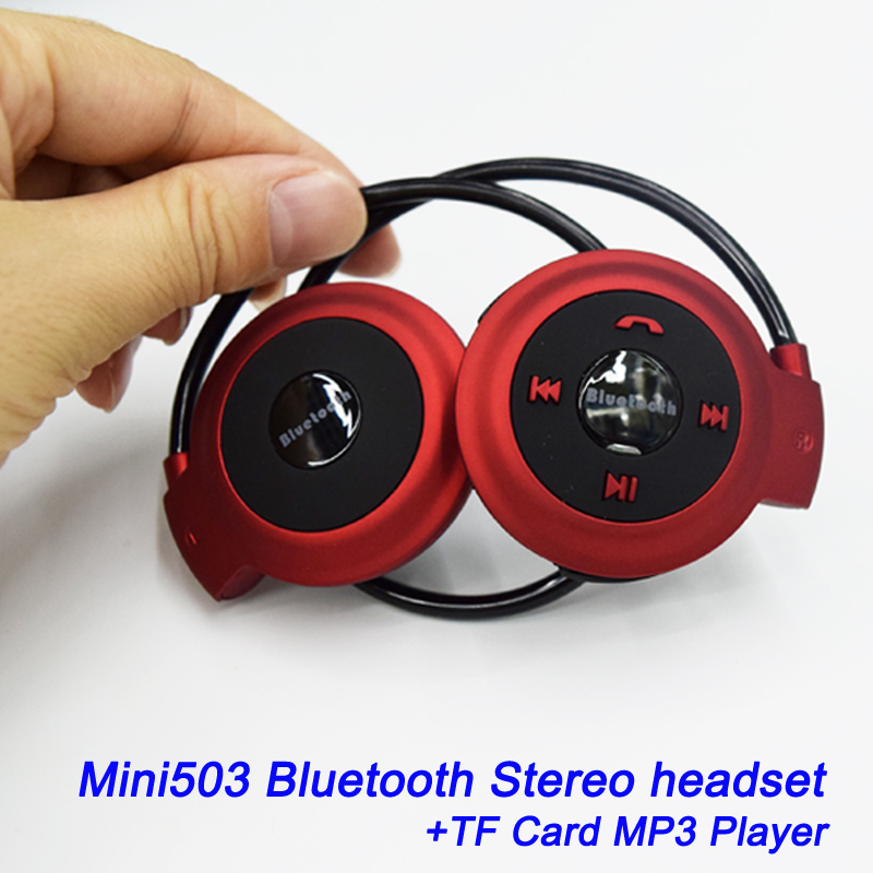 New 2015 Mini-503 Sport Wireless Stereo Bluetooth Headphone Headset TF Neckband Style Earphone for iPhone Samsung Xiaomi mini 503 neckband sport wireless bluetooth handsfree stereo headset headphone earphone for mp3 player hot sale