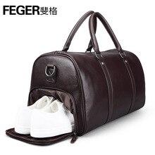 A1102 feger бренд мягкая натуральная кожа большой емкости классические Сумки для путешествий с обуви сумка для мужчин сумка и Ручка