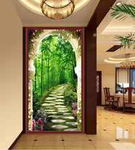 Deep Bamboo Forest Landscapes 5d fai da te New Home Entrance Decorativo Pittura diamante incollato punto croce diamante ricamo