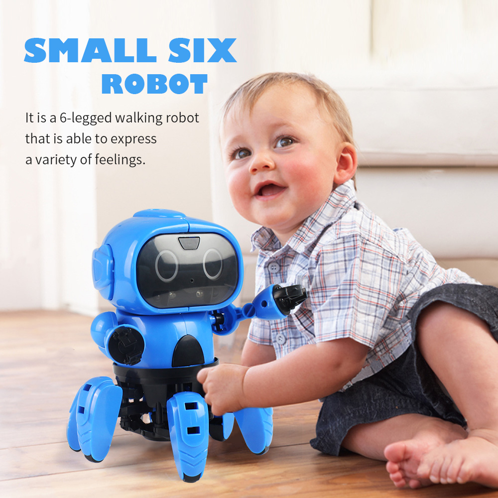 6-Legged RC Robot Gesture Sensing Infrared Obstacle Walking Robot MoFun DIY Assemble Smart Tracking Interactive Toys for Child6-Legged RC Robot Gesture Sensing Infrared Obstacle Walking Robot MoFun DIY Assemble Smart Tracking Interactive Toys for Child