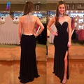 Sexy Mermaid Prom Dresses Long Party Dress High Neck Spandex Zipper Back Court Train Vestido De Festa