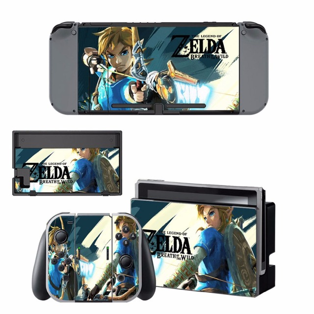 Nintend Switch Vinyl Skins Sticker For Nintendo Switch Console and Controller Skin Set - For The Legend of Zelda 3