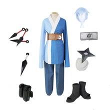 Brdwn Naruto boruto unisex Konoha Mitsuki Ninja Cosplay Costume (top+pants+belt+Headband+Shoes+Kunai+bag+shuriken)
