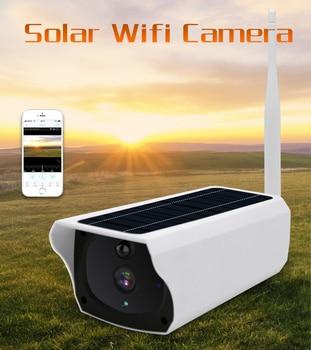 New version 2MP Solar wifi IP cameras P2P smartphone view solar battery dual power wireless IP bullet cameras 2MP solar camera