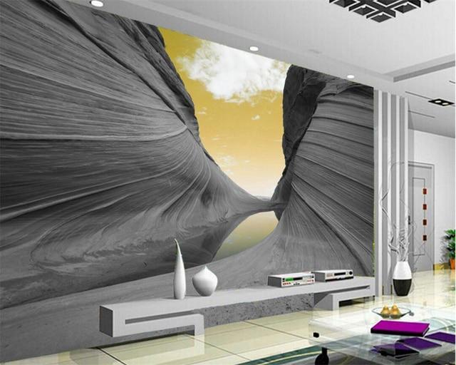 Beibehang aangepaste behang d esthetische mountain sky moderne