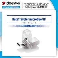 Originale Kingston USB Flash Drive DataTraveler Micro Duo 3C 64GB 32GB 16GB USB 3.1 Per Il PC Del Telefono con il Tipo di-C Porta
