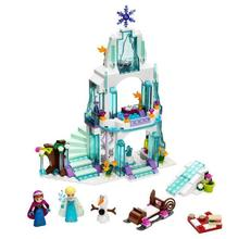 New 205pcs Anna & Kristoff's Sleigh Adventure 41066 Princess Series Building Block Minifigure Girls Toy Compatible With Legoed