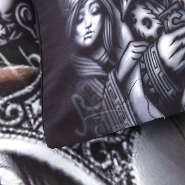 POKER SKULL 3D BEDDING SETS (2 VARIAN)