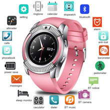 64c516823 ييج 2019 جديد النساء ساعة ذكية LED شاشة ملونة الأزياء الرياضة عداد الخطى  ساعة هاتف أندرويد ذكي ووتش Relogio inteligente + مربع