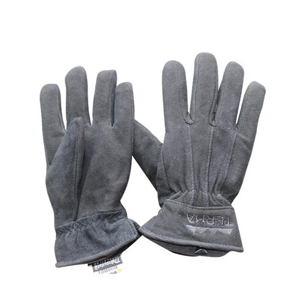 Men Work Driver Gloves Cowhide Leather Security Protection Wear Safety Working Climbing Outdoor Sports Gloves For Men ...
