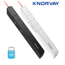 Knorvay N78 Rechargeable Red Laser Pointer USB flash disk Light Wireless Presenter PowerPoint Clicker Presentation Remote
