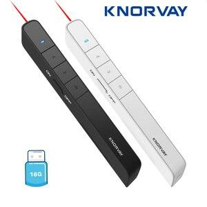 Image 1 - Knorvay N78 şarj edilebilir kırmızı lazer işaretçi USB bellek disk işık kablosuz Presenter PowerPoint Clicker sunum uzaktan