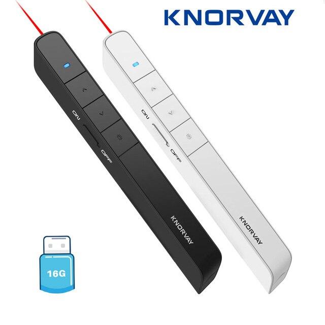 Knorvay N78 قابلة للشحن الأحمر مؤشر ليزر فلاشة مزودة بفتحة يو إس بي القرص ضوء مقدم لاسلكي PowerPoint الفرس عرض عن بعد