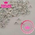 5PCS/Lot  5*7MM Kawaii Silver Bowknot Design Nail 3D Decoration Rhinestone Nail Jewelry Charms DIY Nail Art 653