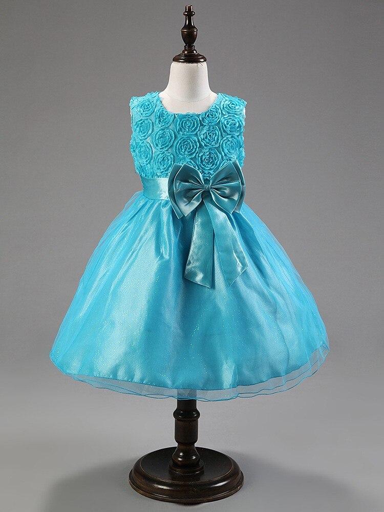Princess dress White girl summer dress Bow sleeveless elbise wedding flower girl dresses kids clothes vestido branco princesa