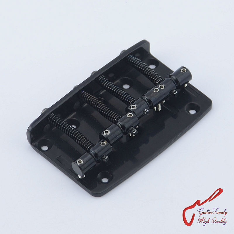 Genuine Original  GOTOH 203B-4  4 Strings Electric Bass Bridge  ( Black )   Brass Saddle  MADE IN JAPAN original thomastik vision solo vis100 4 4 violin strings full set med alum d made in austria free shipping