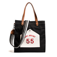 Our ReALIty 1 Canvas Large Tote Enviroment Friendly Girl School Bag Women Cartoon Printing Letter Bag EGT0116