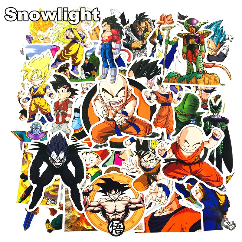 100Pcs/lot Anime Dragon Ball Stickers Super Saiyan Goku Stickers Decal For Snowboard Luggage Car Fridge Laptop DIY Sticker
