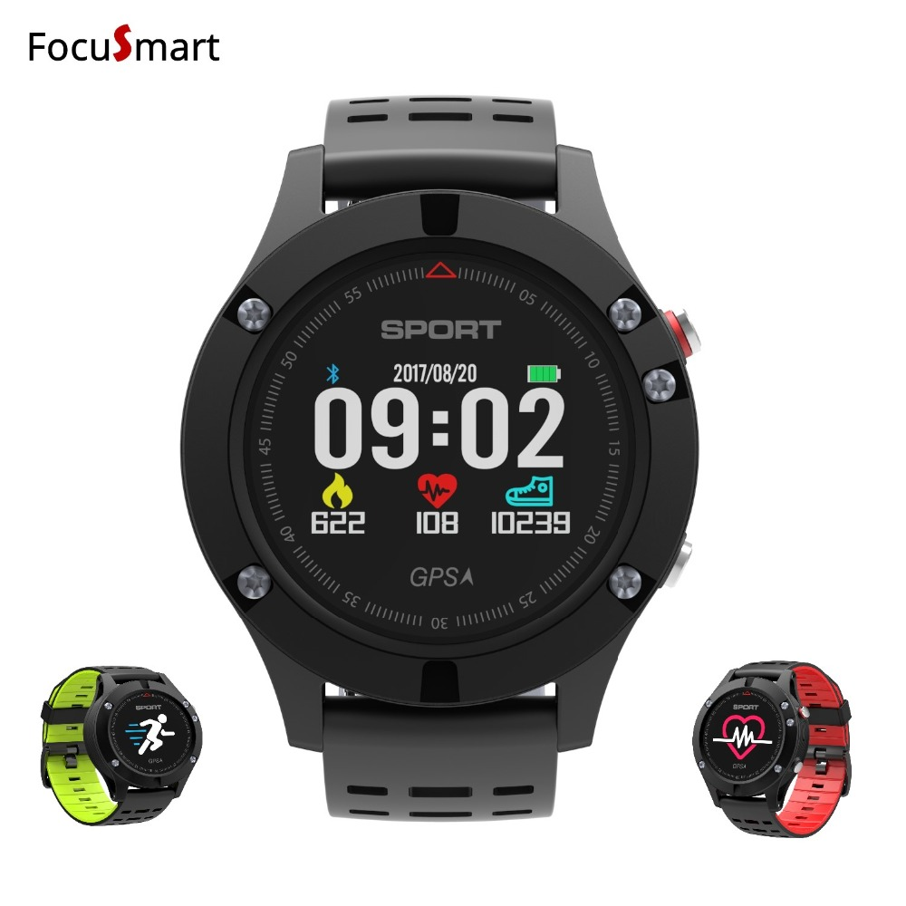 FocuSmart 2018 Sport GPS Smart watch Altimeter Barometer Thermometer Bluetooth 4.2 Smartwatch fitness tracker Heart Rate Monitor