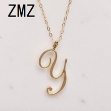 hot deal buy zmz 2018 europe/america popular english letter pendant cute letter y text necklace gift for mom/girlfriend party jewelry