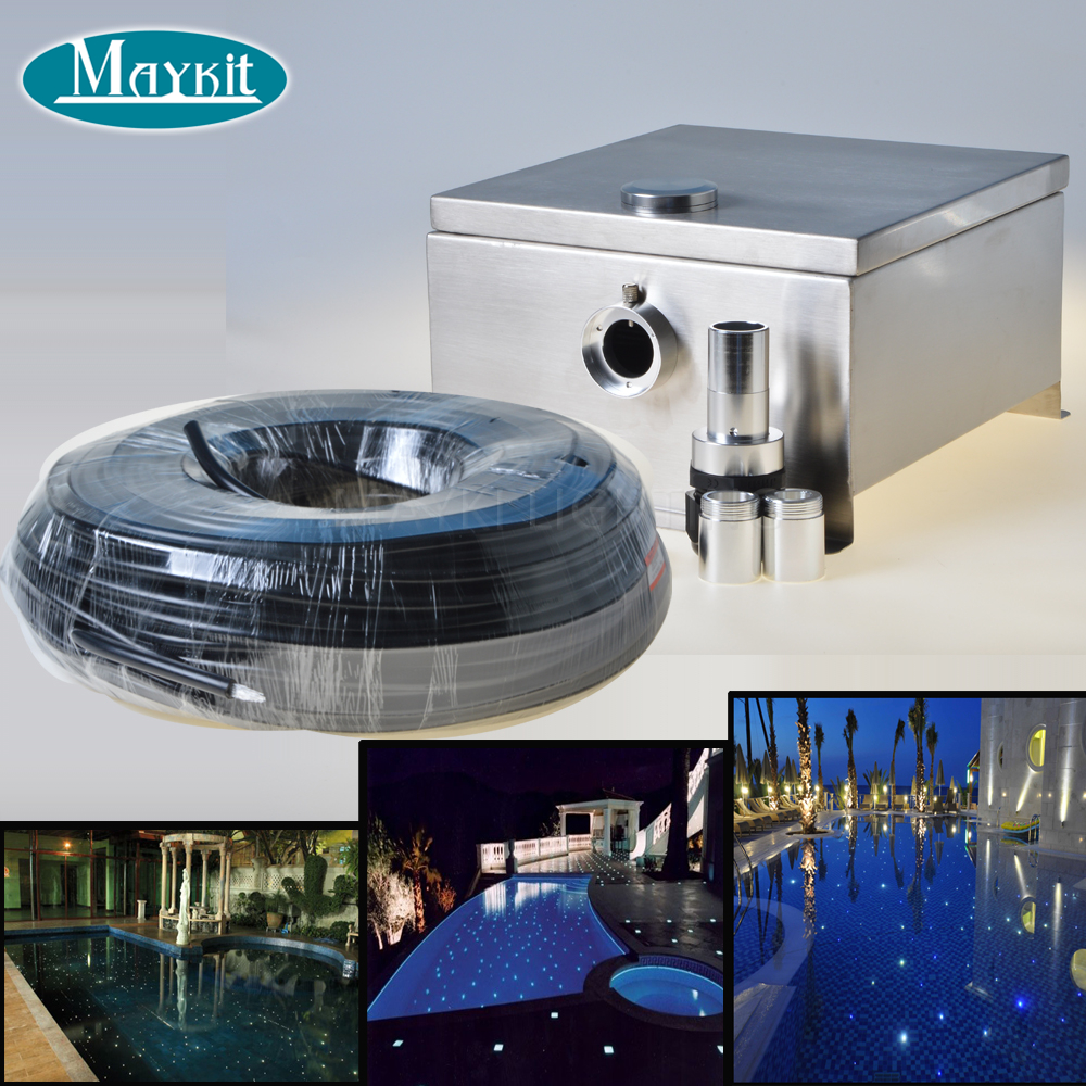 Maykit Swimming Pool Using Fiber Optic Light with 80W LED, IP43 End Emitted Fibre Optic Tail For 20 SQM maykit swimming pool using fiber optic light with 80w led ip43 end emitted fibre optic tail for 20 sqm