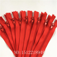 50pcs Red 3# Closed End Nylon Coil Zippers Tailor Sewing Craft (12 Inch) 30CM Crafter's &FGDQRS