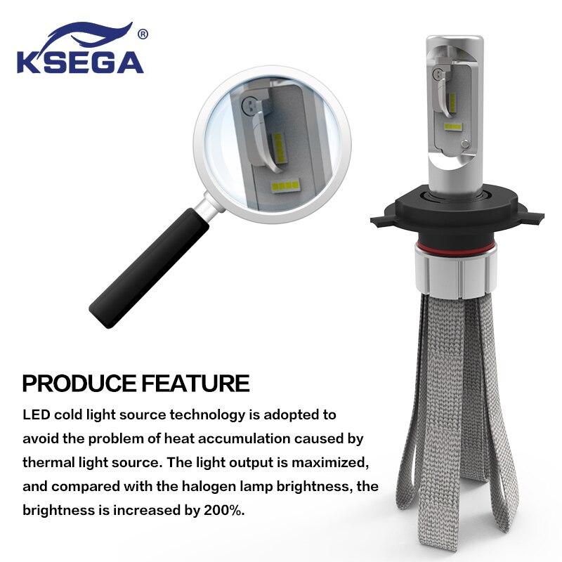 KSEGA 8 CEpistar H7 LED Coche Bombilla 72 W 8000LM LED Bombilla Faros de Faros d
