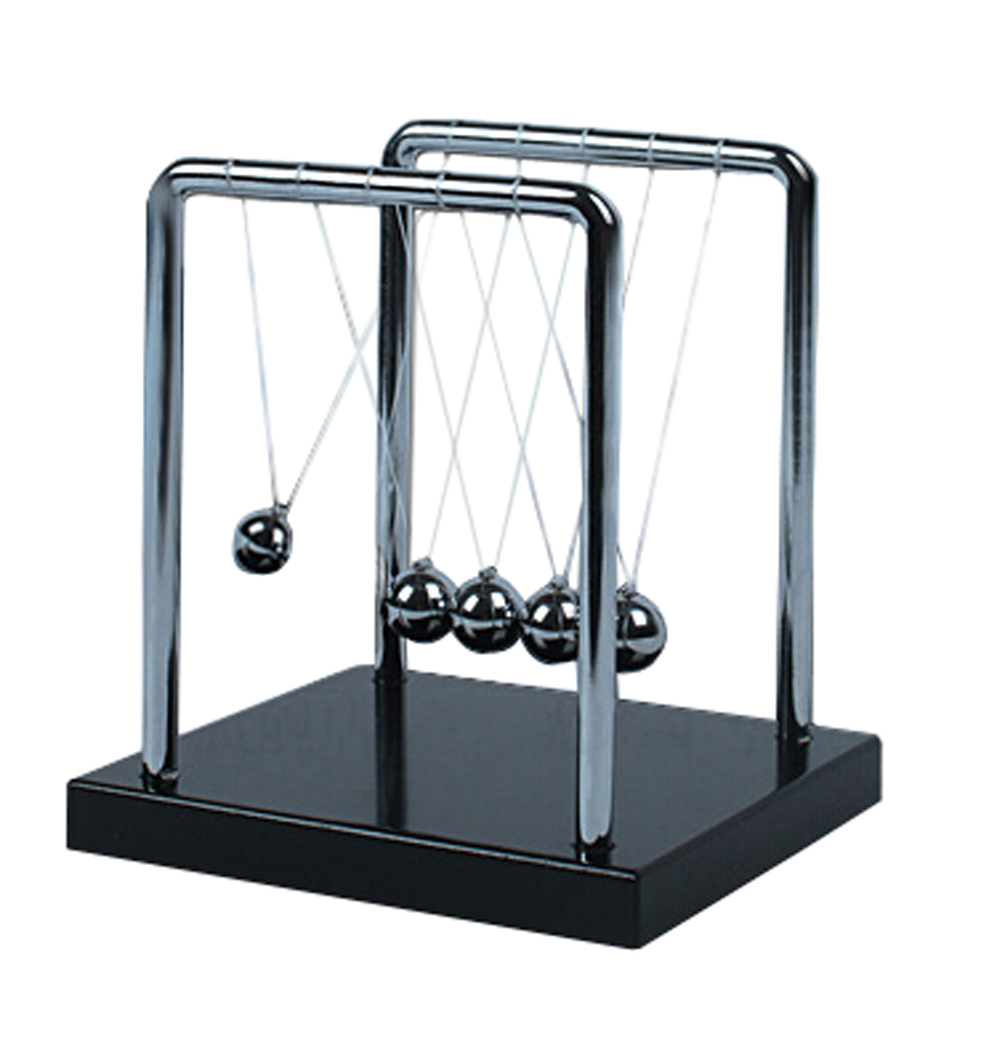 Newtons Cradle Balancing Swinging Metal Balls Physics Pendulum Science Toy Steel