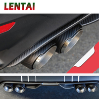 LENTAI Carbon Fiber Car Exhaust Muffler Tip Pipe For BMW F30 320i 316i M3 M4 M5 1 2 3 4 5 6 7 X Z Series Accessories