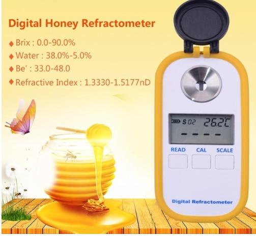 Haute Qualité 0-90% Brix Indice de Réfraction de poche Portable numérique Miel Brix réfractomètre
