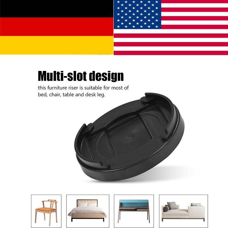 8pcs/set Multi-slot Furniture Leg Risers Non-slip Bed Riser for Table Desk Sofa Chairs r ...