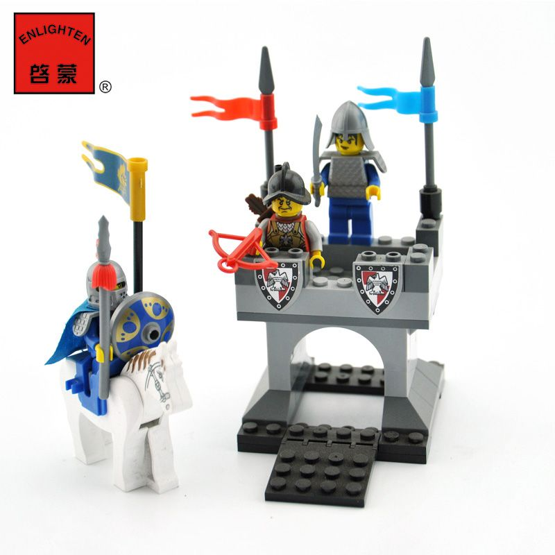 Blocks Cheap Price Enlighten Building Blocks Sets Knights Castle Series Horse Knight Tower Beacon Figures Legoingly Educational Toys For Children