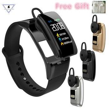 Cadran d'appel Bracelet de montre intelligent couleur écran Fitness Bracelet tension artérielle fréquence cardiaque Bluetooth casque Bracelet pour IOS Android