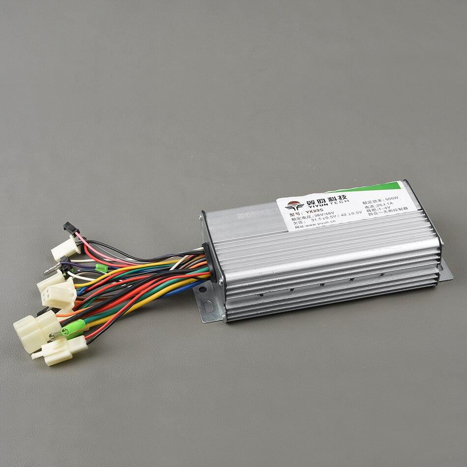 36v 48v 500w 9mosfets Brushless Hub Motor Controller