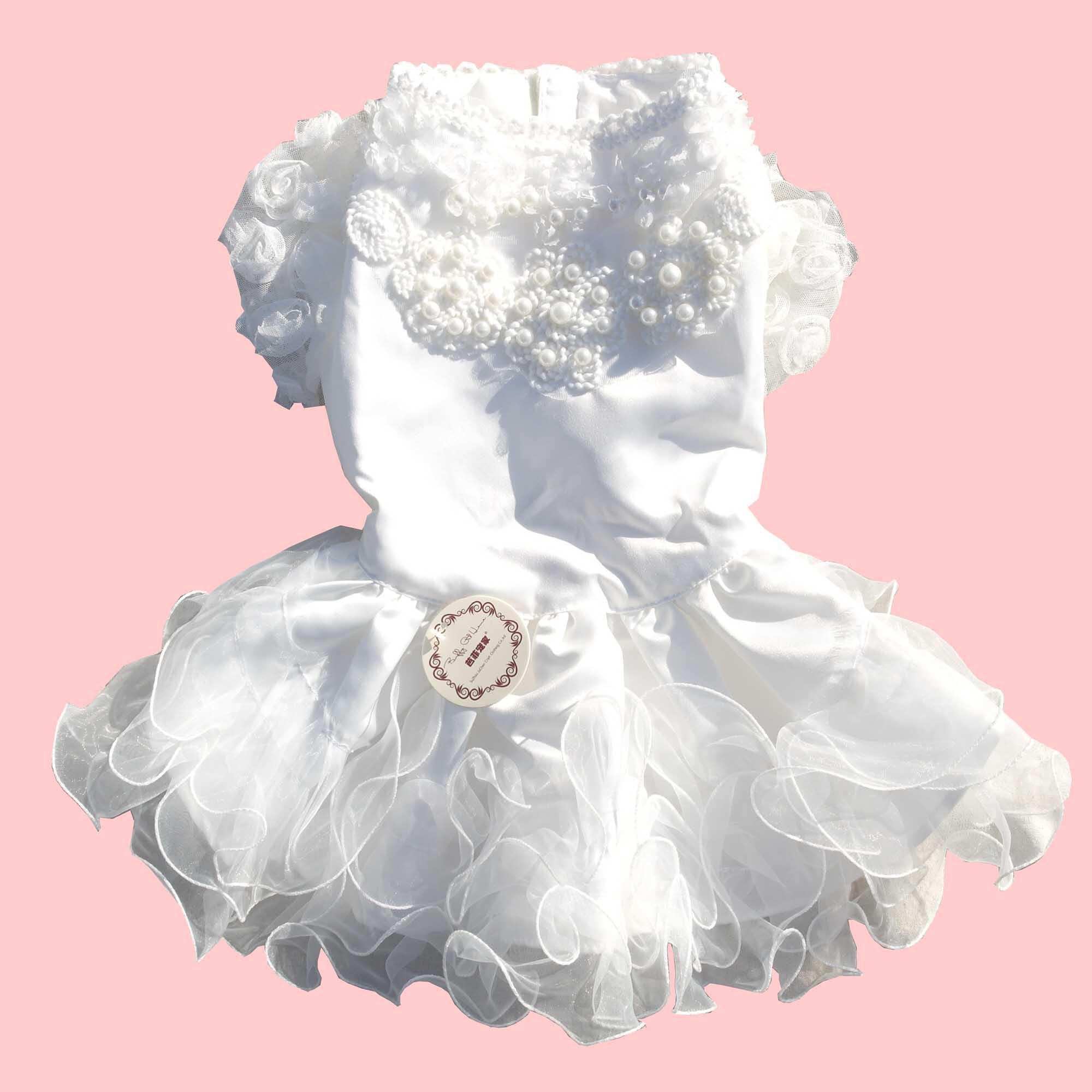 Petalk Luxury Cat Dog Dress Princess Pet Wedding Dresses Tutu Skirt Large  XS -3XL