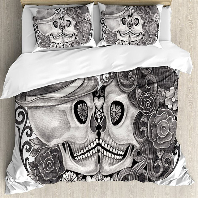 SUGAR SKULL 3D BEDDING SETS